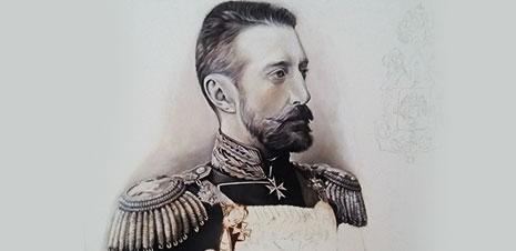 Картина на заказ, - в образе генерала Царской России.