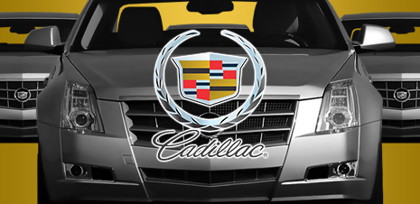 Сайт Cadillac для компании Грэйт Моторс.